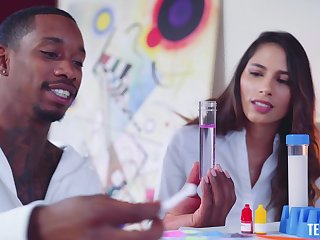 Sex with a side of science with captivating schoolgirl Baby Nicols