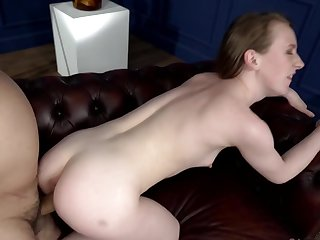 Uncalculated aged bloke will go deep and hard in her young pussy