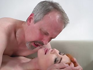 Horny old guy has unforgettable intercourse anent wife's cute stepdaughter