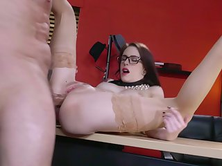 Office ass fucking of hot pornstar Anna De Ville