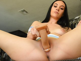 Excellent crude with slim forms, deep spoken fun with her new toy