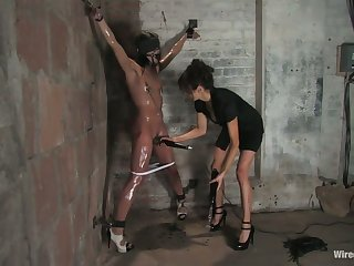 Angry mistress punishes tied up brunet whore Alyssa Reece with different sex toys