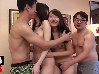 group sex party with skinny asian girls - amateur porn