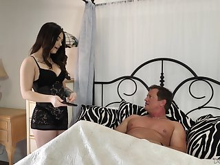 Elder man enjoys fucking lord it over sexy brunette Jayde Symz